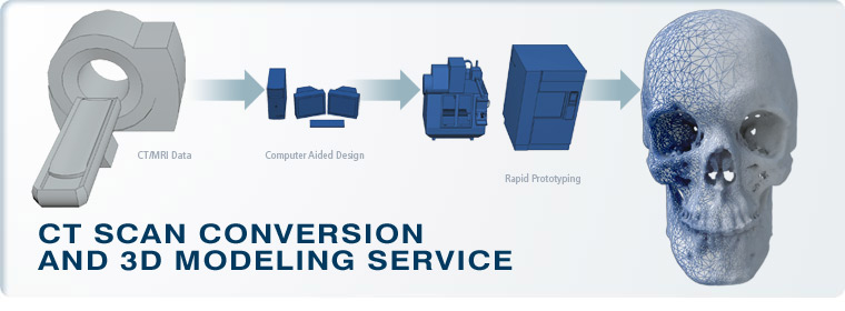 CT Scan Conversion and 3D Modeling Service